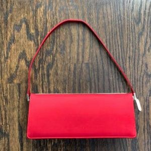 Cole Haan Satin Lever Clutch with Mirror